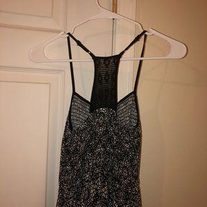 Black & White Patterned Maxi Dress